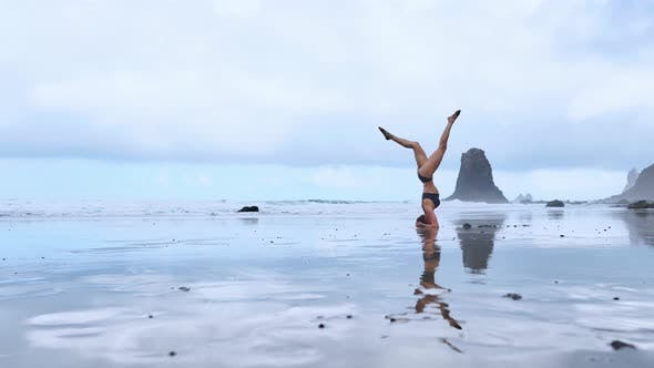 Thumbnail for Headstand at the Beach