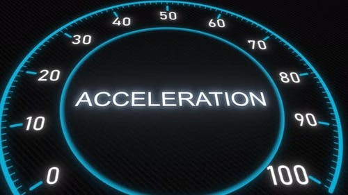 Acceleration Futuristic Meter or Indicator
