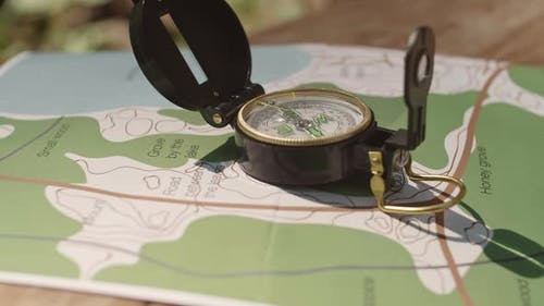 Tourist Compass and Map
