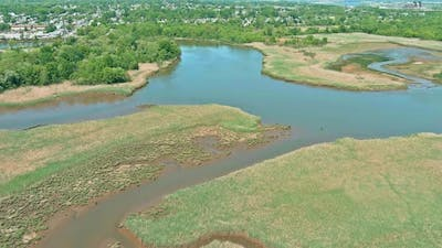 A River Mouth in a Small Sayreville Town of US