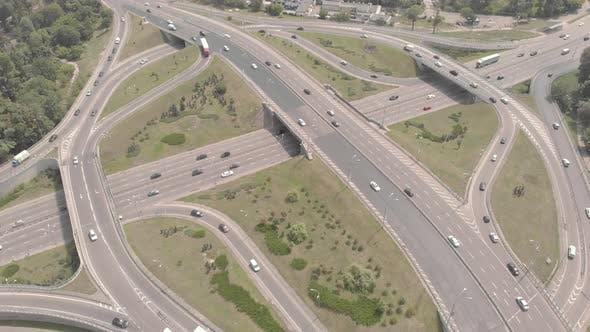 Thumbnail for Automobile Transport Interchange in Kyiv. Ukraine. Aerial