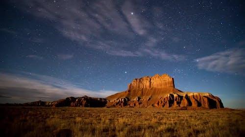 Night Scape Time Lapse of Utah Landscape