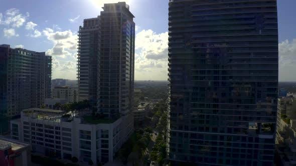 Miami Residential Condominium Apartment Buildings Sun Contrast