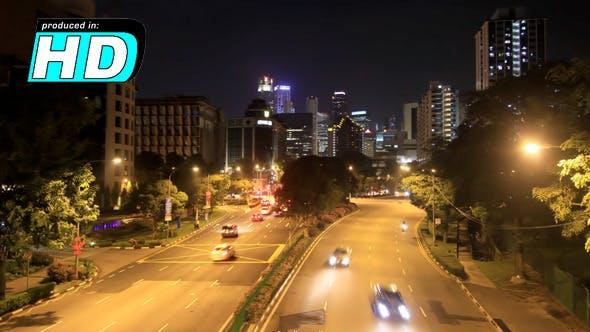 Thumbnail for City Road Cars, Time Lapse Singapore