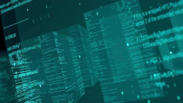 Thumbnail for Virtual City Source Code Blocks Flythrough 4K