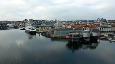 Aerial view of the Norwegian Petroleum Museum