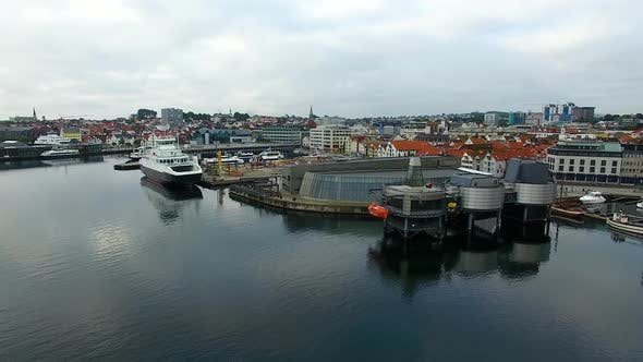 Aerial view of the Norwegian Petroleum Museum