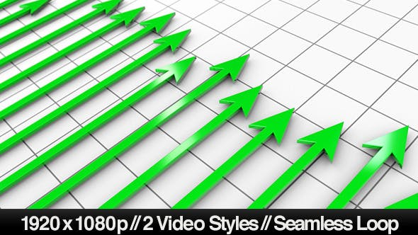 Thumbnail for Green Profit Arrows Point Hight on 3D Graph