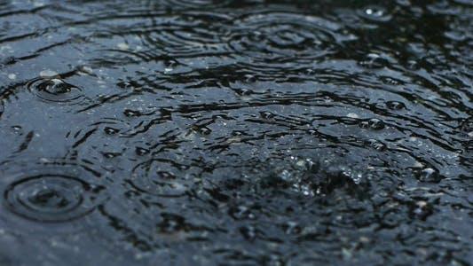 Thumbnail for Raindrops Hitting A Puddle 2