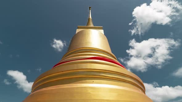 Thumbnail for Temple dome on a background of clouds on Samui island, Thailand