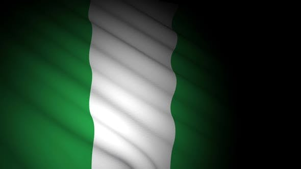 Thumbnail for Nigeria Flag Blowing in Wind