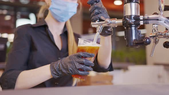 Thumbnail for Pouring Cold Beer Into Glass