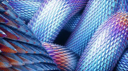 Abstract Purple Dragon Scales Moving 4k