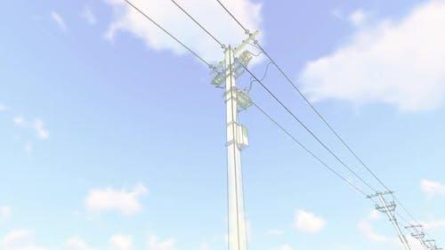Lignes électriques d'Sketch
