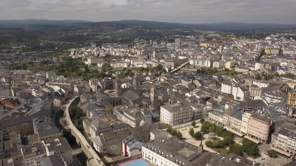 Thumbnail for Aerial View of Lugo Walled City , Galicia, Spain