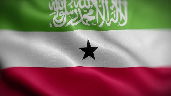Somaliland Flag Textured Waving Front Background HD