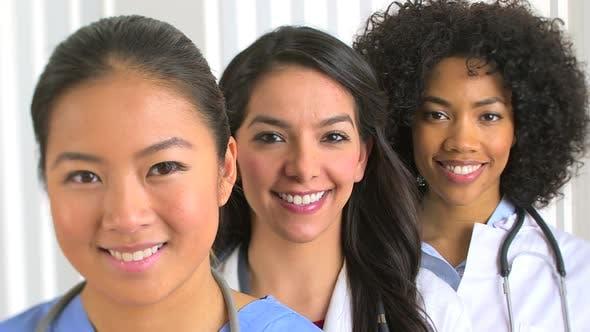 Thumbnail for Three multiethnic women