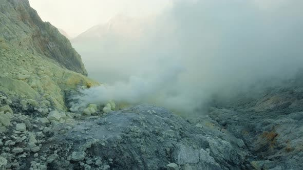 Thumbnail for Volcanic Crater, Where Sulfur Is Mined.