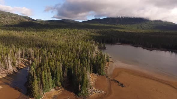Thumbnail for Aerial view of Sparks Lake, Oregon