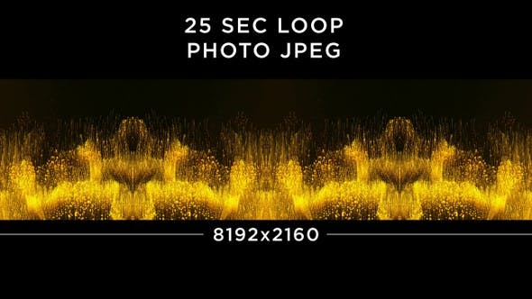 Thumbnail for Abstract Gold Particles Background 8K