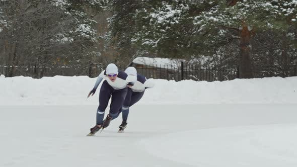 Thumbnail for Female Speed Scatters Competing in Outdoor Ice Rink