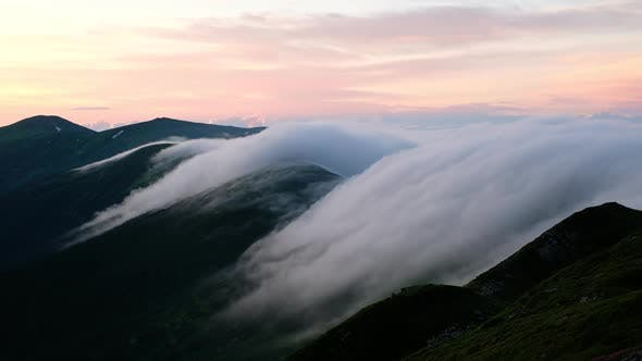 Video Footage Timelapse of Carpathian Mountains