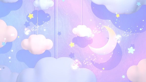 Thumbnail for Soft Pastel Moon And Clouds