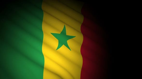 Cover Image for Senegal Flag Blowing in Wind