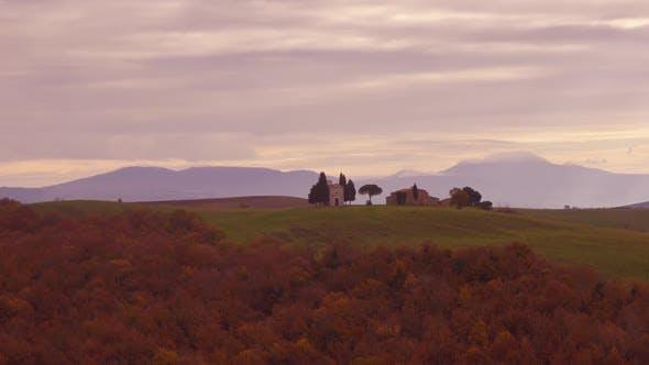 Tuscany Landscape in Autumn