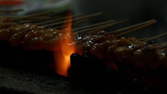 Thumbnail for Grilling Satay Close-Up