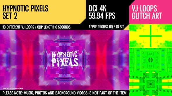 Thumbnail for Hypnotic Pixels (4K Set 2)
