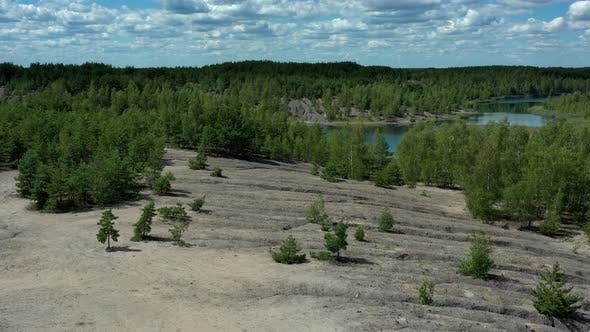 Thumbnail for Aerial view of abandoned quarry.