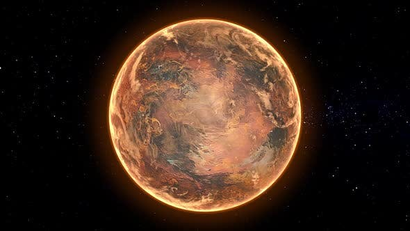 Thumbnail for Inhabitable Exoplanet Orbit Seamless Loop