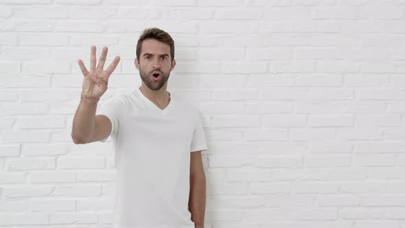 Thumbnail for Handsome Guy Counting Down On Hand