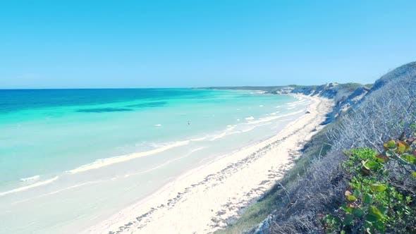 Thumbnail for Revealing Beautiful Aqua Color Caribbean Ocean And Beach