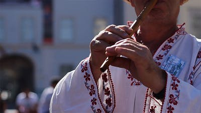 Traditional Wood Flute Singer