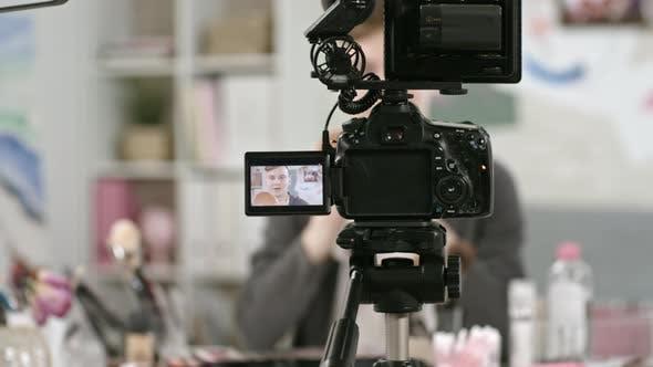 Thumbnail for Teenage Boy Doing Makeup on Camera