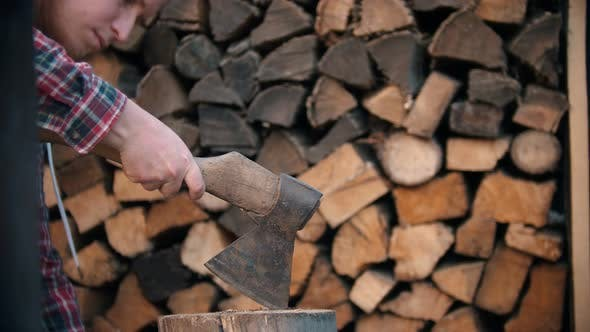 Thumbnail for Chopping Wood in Half with an Ax