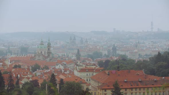 Thumbnail for Rainy Day In Prague Panorama 2