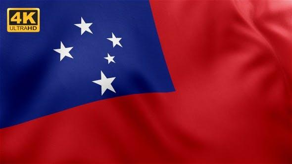 Thumbnail for Flag of Samoa - 4K