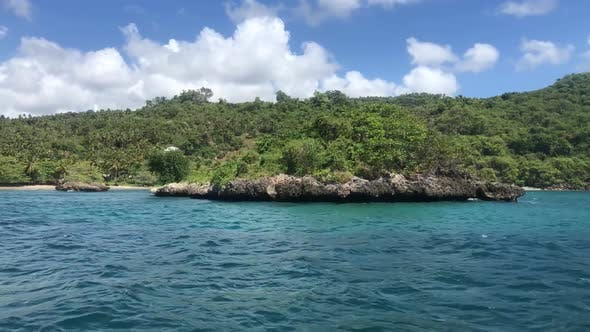 View from the Boat on the Samana Peninsula