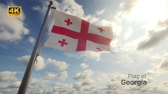 Thumbnail for Georgia Flag on a Flagpole - 4K