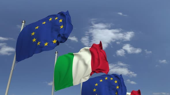 Thumbnail for Flags of Italy and the European Union