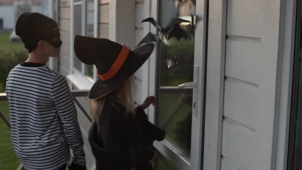Witch and Bandit Trick or Treating