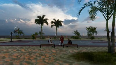 Basketball Court By The Beach