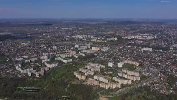 Aerial View Of The Houses Of The City Of Zhytomyr