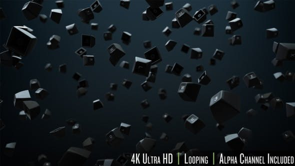 Thumbnail for 4K Computer Keyboard Keys Background