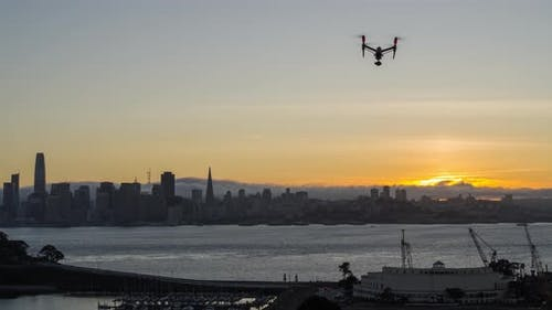 Drone Flying Over San Francisco