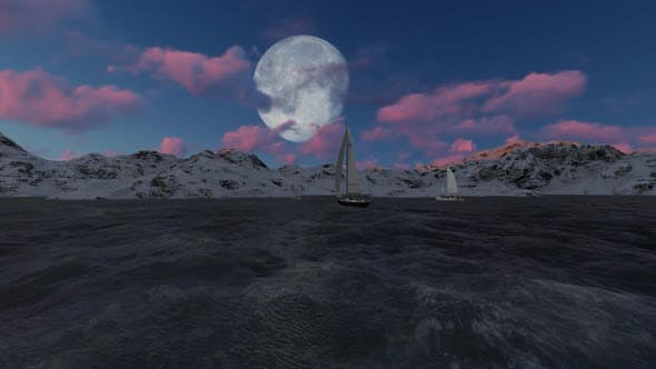 Thumbnail for Full Moon at the end of the beach