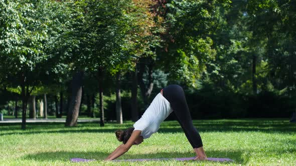 Thumbnail for Woman Practice Yoga, Kneeling Pose